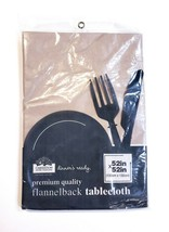 "Carnation Home Fashions Premium Quality Flannel Backed Tablecloth 52""x52... - $14.39"