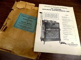 1930s 40s Electro Surgical Unit, Operating Instructions, Cervical Coniza... - $49.00