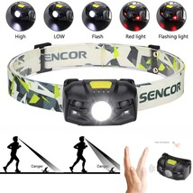 New Generation Outdoor Activities LED Headlamp Motion Sensor Headlight U... - £9.95 GBP