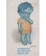 Lonely Child Boy Wants Love Letter Letters Antique Sad Feeling Blue Post... - $10.99