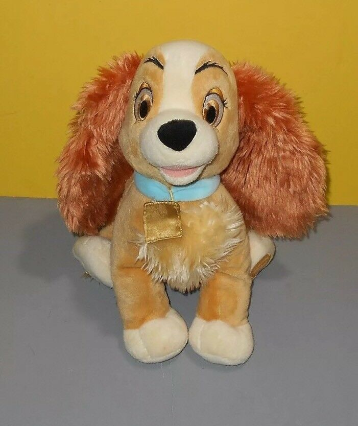 "Lady Tramp Plush Cocker Spaniel Puppy Dog Bean 12"" Stuffed Animal Disney Store"