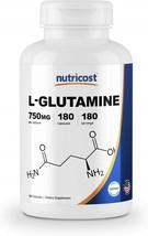 Nutricost L-Glutamine 750mg; 180 Capsules - $49.42