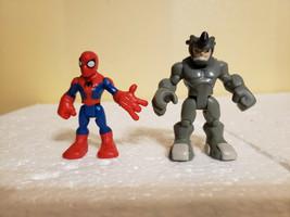 Playskool Marvel Heroes Hero Squad Spider-Man RHINO Figures - $19.99