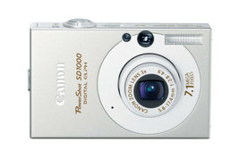 Canon PowerShot SD1000 7.1MP Digital Elph Camera with 3x Optical Zoom SILVER - $189.99