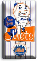 RETRO MR MET NEW YORK METS BASEBALL TEAM 1 GANG LIGHT SWITCH PLATE ROOM ... - $9.99
