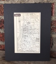 """City Map of Memphis Tennessee mid century 1958 8"""" x 10"""" Black Matted Art... - $18.70"""