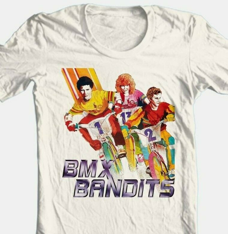 BMX Bandits Movie T-shirt Free Shipping 80s retro movie 100% cotton tan tee