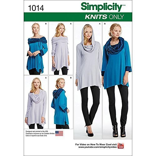 Primary image for Simplicity Creative Patterns US1014A Misses Knit Tunics, Size A (XXS-XS-S-M-L-XL