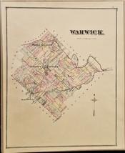 1876 antique WARWICK PA MAP from bucks county atlas j d scott ORIGINAL - $47.50