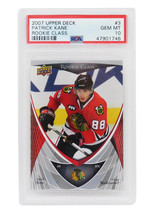 Patrick Kane 2007 Upper Deck Rookie Class #3 RC Rookie Card - PSA 10 GEM... - $167.31