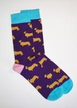 NEW Purple Super Soft Women's Bamboo & Cotton Dachshund Dog Socks - $14.00
