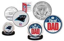 Best Dad - CAROLINA PANTHERS 2-Coin Set Quarter & JFK Half Dollar NFL LI... - $14.80