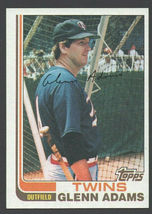 Minnesota Twins Glenn Adams 1982 Topps Baseball Card # 519 nr mt - $0.50