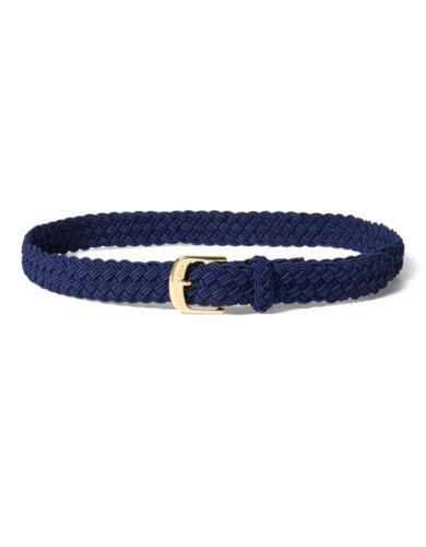 Lauren Ralph Lauren Medium Braided Stretch Belt (Navy, M)