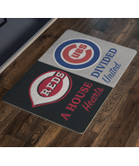 Chicago Cubs Cincinnati Reds Baseball Man Cave House Divided Welcome Doo... - $28.63