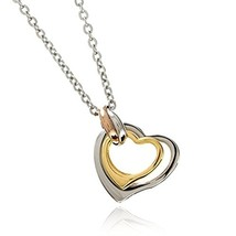 [Napist] Napist Surgical Stainless Steel Necklace Twin Heart Women's - $38.70
