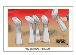 "New England Patriots Super Bowl  Tom Brady ""The Brady Bunch Poster""  11 ... - $29.69"