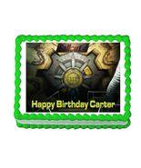 Fallout 4 Vault Door Gaming Edible Cake Image Cake Topper - $8.98+