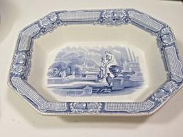 M T & Co Marple, Turner & Co ATHENA  Blue Staffordshire Transferware Bowl Large  - $198.00