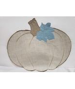 (1) Fall Thanksgiving Blue Pumpkin Fabric Placemat Decor - $12.99