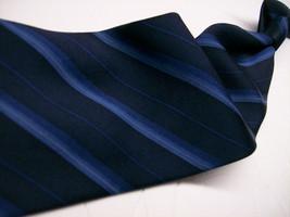 Geoffrey Beene Blue On Blue Stripe Silk Necktie S 8^511 1217 - $9.99