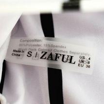 Zaful Black & White Vertical Striped Bandeau Bikini Top US 4 | UK 8 image 3