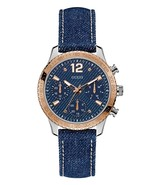GUESS Women's Rose Gold-Tone and Denim Multifunction Watch - U1057L1  - $130.00