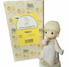 Precious moments figurine box Enesco 1994 Memories made of this 529982 cat tea - $28.98