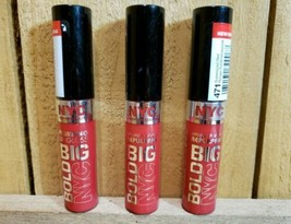 NYC Big Bold Plumbing Lip Gloss 471 Supersized Red Discontinued Pack of 3 - $54.65