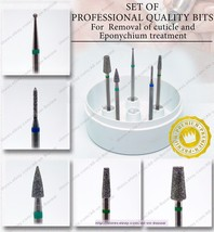 Professional quality bits set Fresas Burs for Removal of cuticle and eponychium  - $41.58+