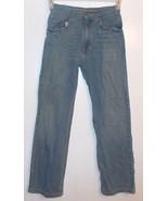 Arizona Straight Leg Boys Blue Jeans Slightly Distressed Size 14 Slim VGUC - $9.27