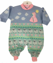 Vintage Mary Had A Little Lamb Knit Blend Lounger Romper Size 3-6 Months - $87.11