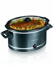 Hamilton Beach 33182 8-Quart Oval Slow Cooker, Black (Discontinued) - $64.67