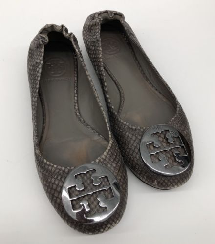 df85286a35e3 12. 12. Previous. TORY BURCH Reva Ballet Snake Print Flats Gold Medallion  Women s 5.5 us · TORY BURCH Reva ...