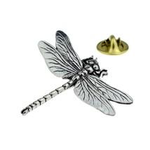 large dragonfly with clip on rear Pin ,Badge / tie pin unisex gift gift boxed