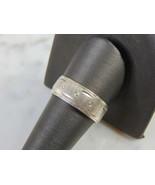Mens Vintage Estate Sterling Silver Ring 3.9g E5172 - $24.75