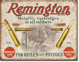 Remington UMC Rifles Pistols Metal Sign Tin New Vintage Style USA  #1788 - $10.29