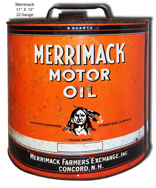 Primary image for Merrimack Motor Oil Reproduction Laser Cut Out 11x13