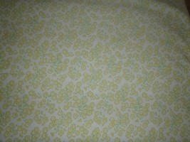 VINTAGE WAMSUTTA FLORAL FULL DOUBLE FLAT SHEET YELLOW GREEN - $18.49