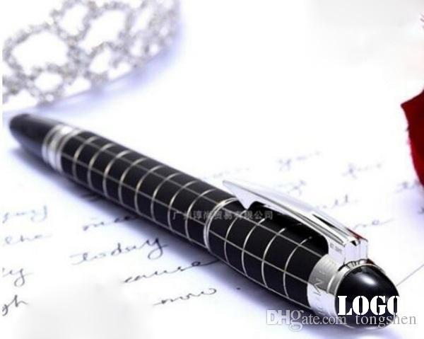 luxury Classique black checkered Fountain Pen 14k 4810 nib white star crystal to
