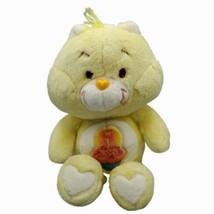 "Vintage 80s Care Bear Birthday Bear 1983 Plush Kenner 13"" Yellow Pink Cu... - $18.80"