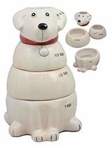 Ebros Ceramic Pedigree Labrador Dog Stackable Measuring Cups Set of 4 Ba... - $21.77