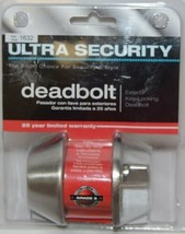 Ultra Security Exterior Deadbolt Key Locking Stainless Steel image 1