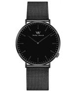 Welly Merck Swiss Movement All Black Sapphire Crystal Women Luxury Mini... - $303.64