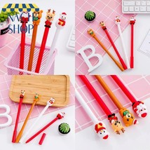 20 Pcs Christmas Gift Pen Cap Bear Christmas Neutral Pen 0.5 Black Stude... - $10.32