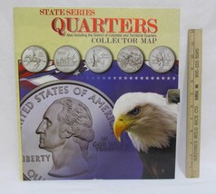 State Series Quarters 1999 - 2009 Coin Collectors Map Album Completed - $49.49
