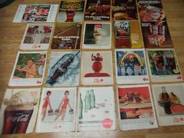 20 Vintage 1950's 60's Assorted Coca Cola / Coke Advertisements - $20.00