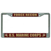 force recon usmc marine corps military insignia logo license plate usa made - $28.49