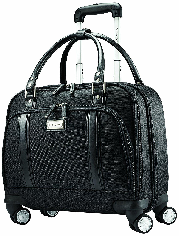 Samsonite luggage women s spinner mobile office  black    3