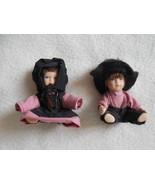 Amish Children Miniature Dollhouse Figures, miniature Amish dolls Amish ... - $16.50